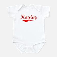 Kaylin Vintage (Red) Infant Bodysuit