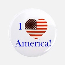 "I Love America! 3.5"" Button (100 pack)"