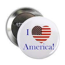 """I Love America! 2.25"""" Button"""