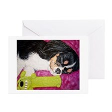 Snoozin with my best toy Greeting Cards (Pk of 10)