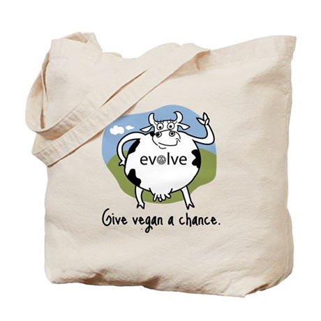 Evolve to Vegan Tote Bag