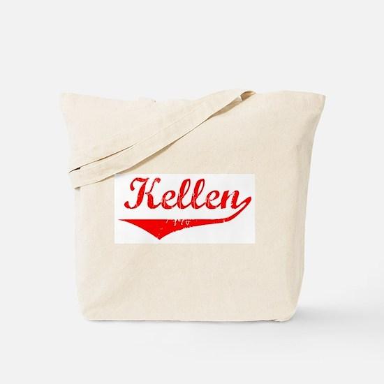 Kellen Vintage (Red) Tote Bag