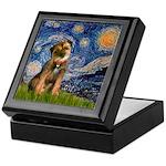 Starry Night / Border Terrier Keepsake Box