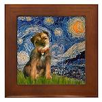 Starry Night / Border Terrier Framed Tile