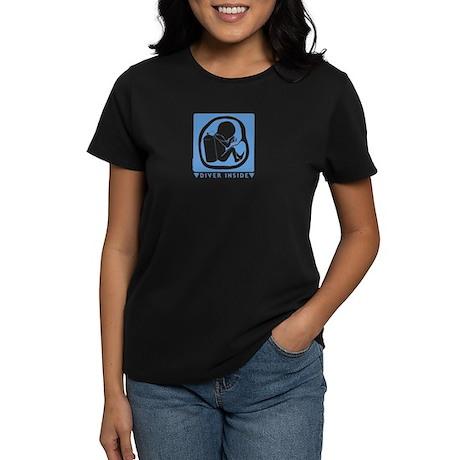 Diver Inside - Blue Women's Dark T-Shirt