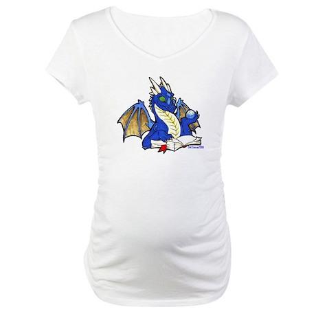 Blue Bookdragon Maternity T-Shirt