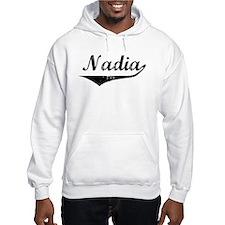 Nadia Vintage (Black) Hoodie Sweatshirt