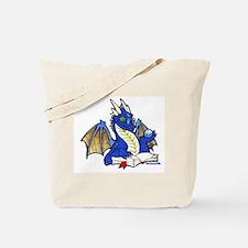 Blue Bookdragon Tote Bag