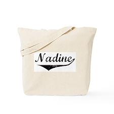 Nadine Vintage (Black) Tote Bag