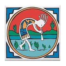 Kokopelli 17 Tile Coaster