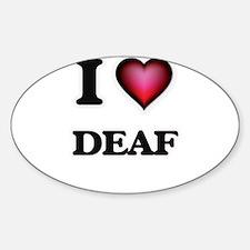 I love Deaf Decal