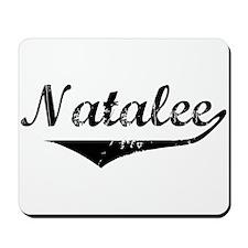 Natalee Vintage (Black) Mousepad