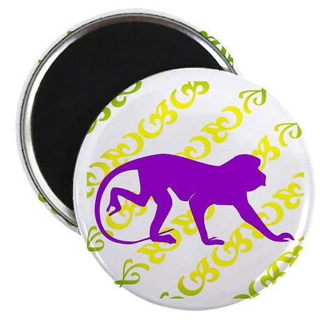 Ancient Purple Monkey Scroll Magnet