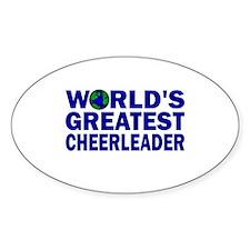World's Greatest Cheerleader Oval Decal
