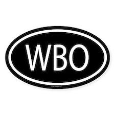 WBO Oval Decal