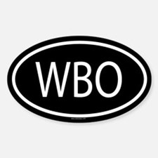 WBO Oval Decal