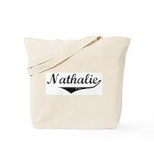 Nathalie Vintage (Black) Tote Bag