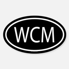 WCM Oval Bumper Stickers