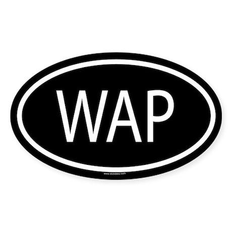 WAP Oval Sticker
