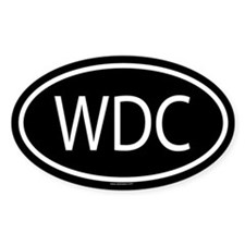 WDC Oval Decal