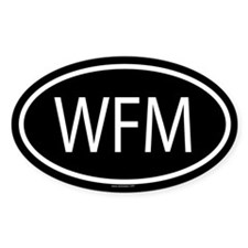 WFM Oval Decal