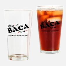 Funny Baca Drinking Glass