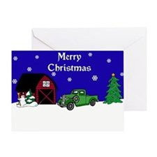 Classic Truck Christmas Greeting Card
