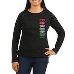 Burundi Stamp Women's Long Sleeve Dark T-Shirt