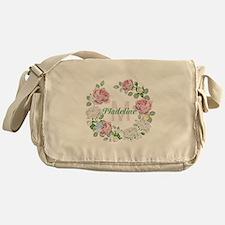 Rose Butterfly Floral Monogram Messenger Bag