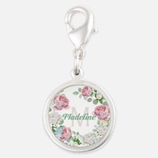 Rose Butterfly Floral Monogram Charms