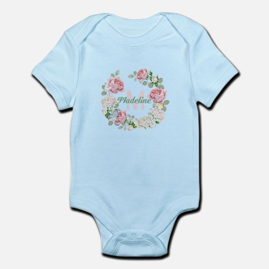 Rose Butterfly Floral Monogram Body Suit