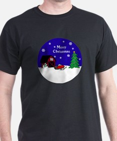 Snowmobile Christmas T-Shirt
