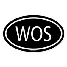 WOS Oval Decal