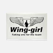 Wing-girl Rectangle Magnet
