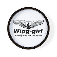Wing-girl Wall Clock