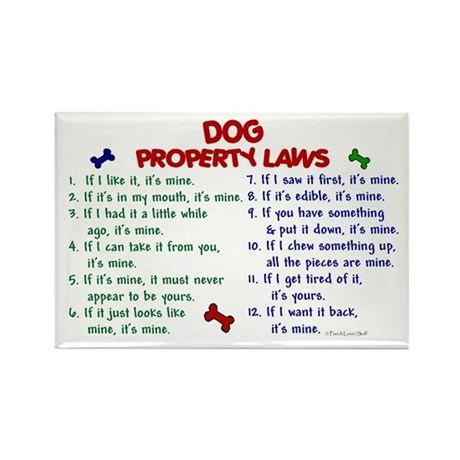 Dog Property Laws 2 Rectangle Magnet (100 pack)