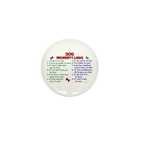 Dog Property Laws 2 Mini Button (10 pack)