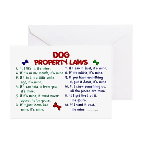 Dog Property Laws 2 Greeting Cards (Pk of 20)