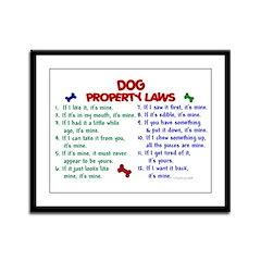 Dog Property Laws 2 Framed Panel Print