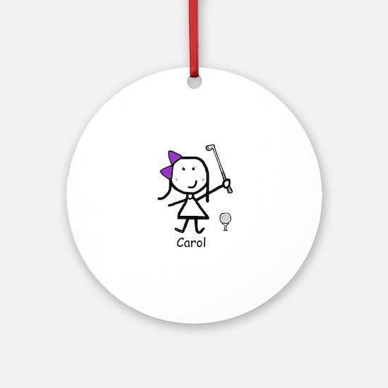 Golf - Carol Ornament (Round)