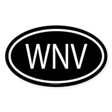 WNV Oval Decal