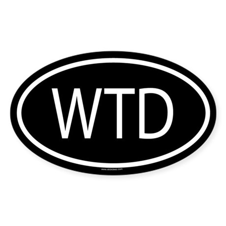WTD Oval Sticker