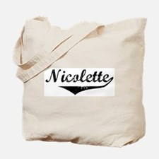 Nicolette Vintage (Black) Tote Bag
