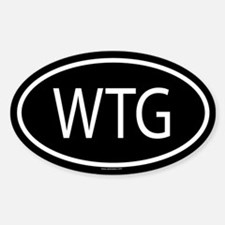 WTG Oval Decal