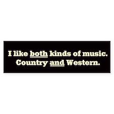 COUNTRY WESTERN MUSIC - Bumper Bumper Sticker