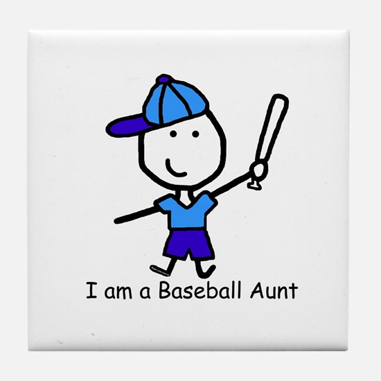 Baseball - Aunt Tile Coaster