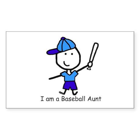 Baseball - Aunt Rectangle Sticker