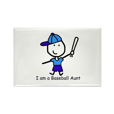 Baseball - Aunt Rectangle Magnet
