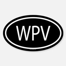 WPV Oval Decal