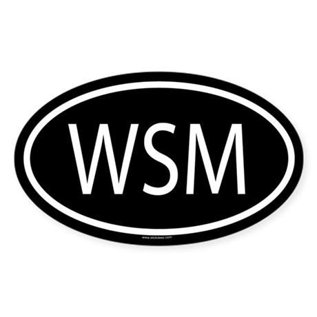 WSM Oval Sticker